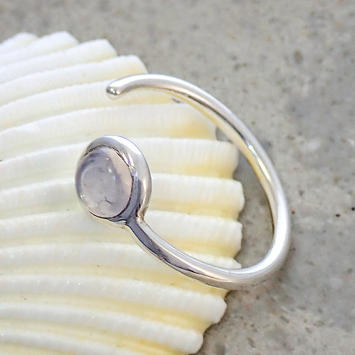 Curved ring with stone
