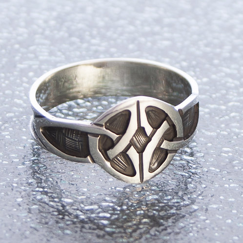 Celtic Polish Black Ring