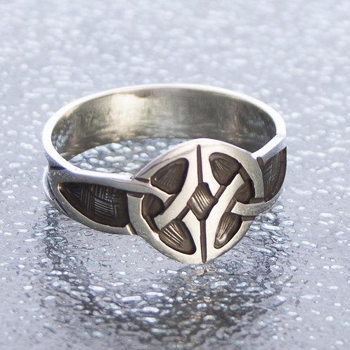 Celtic Polish Black Ring