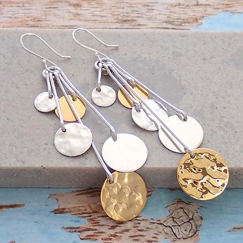 Disc Dangle Earrings