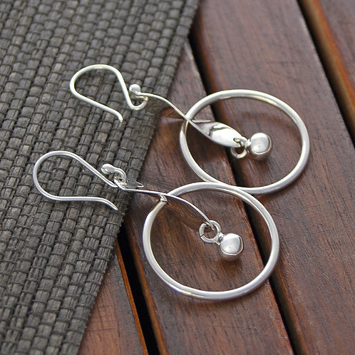 Twist and Hoop Earrings