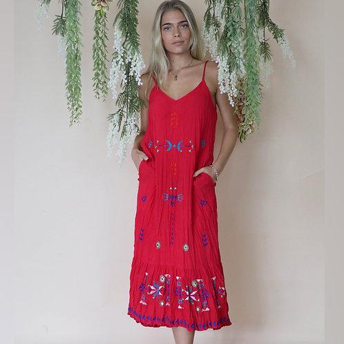 Zelig Red Maxi Dress
