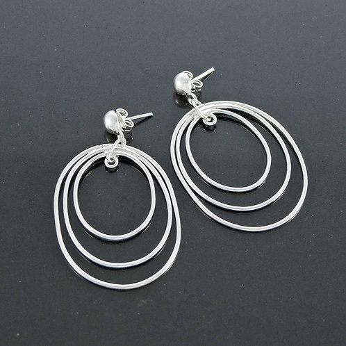 Tri Loop Earrings