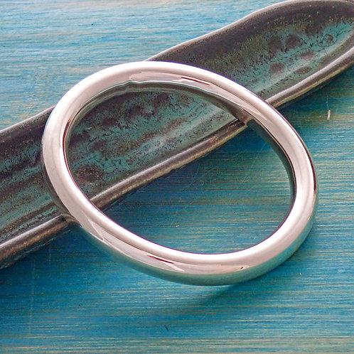 Large Smooth Oval Bangle
