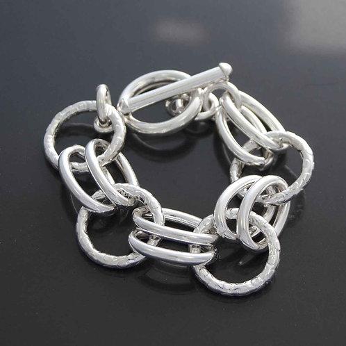 Oval Circle Link Bracelet