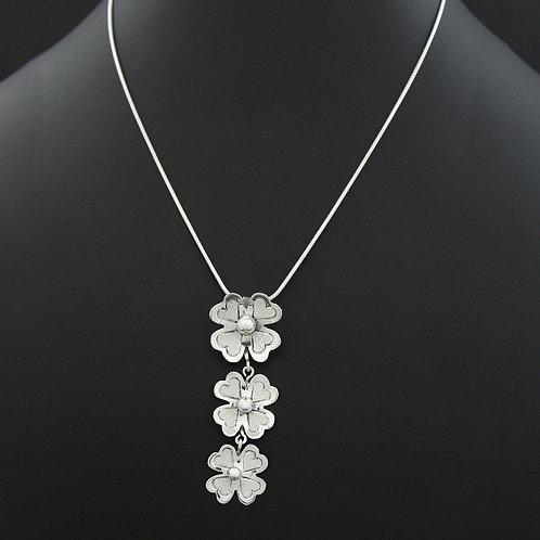 Tri Drop Floral Necklace