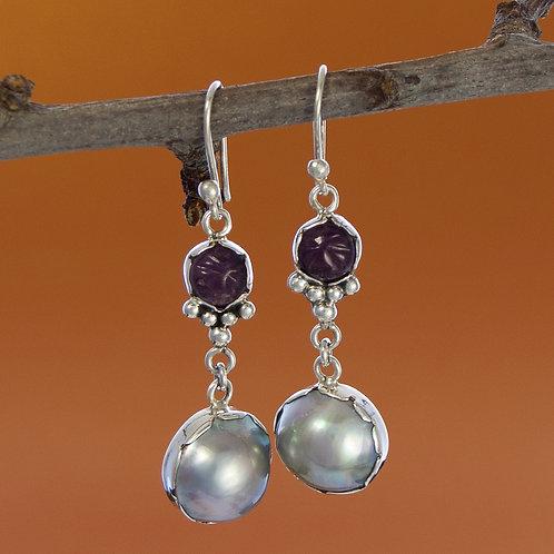 Hippy Chic Silver & Stone Earrings