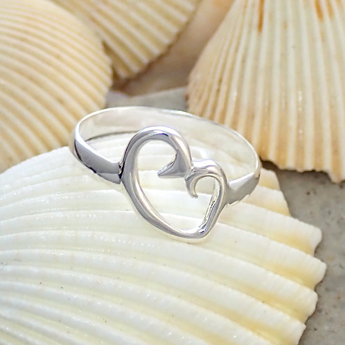 Abstract heart ring
