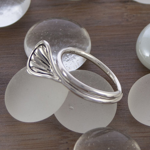 Silver Shell Ring (petite)