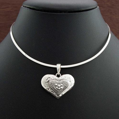 Engraved Heart Choker