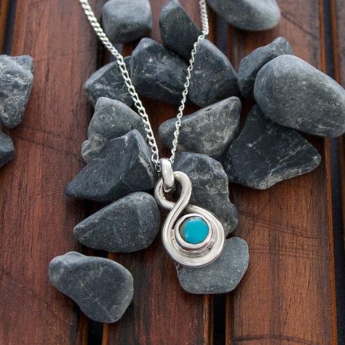 Figure 8 Turquoise Drop Pendant on 45cm Chain