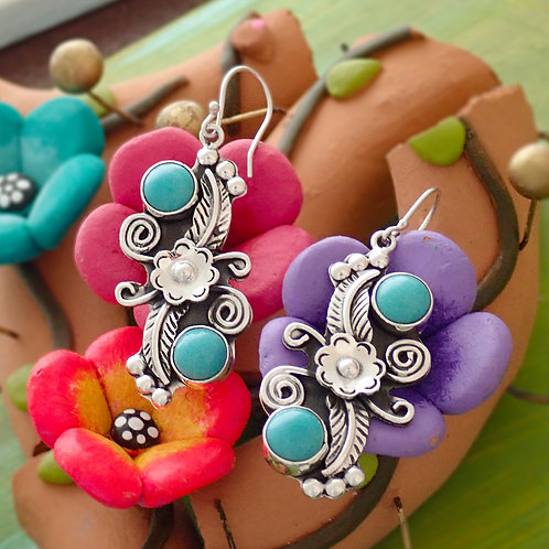 Ornate Turquoise Drops