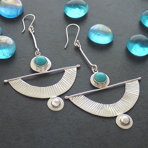 Mayan Turquoise Silver Drop