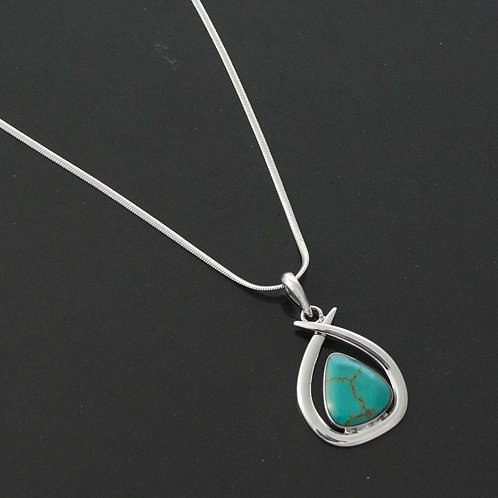 Abstract Turquoise Necklace