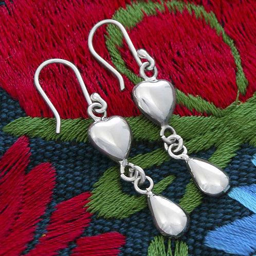 Heart & Teardrop Earrings