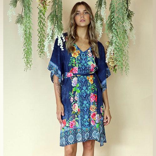 Valeria Navy Dress