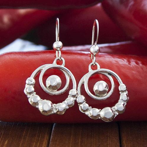 Ornate Double Loop Earrings