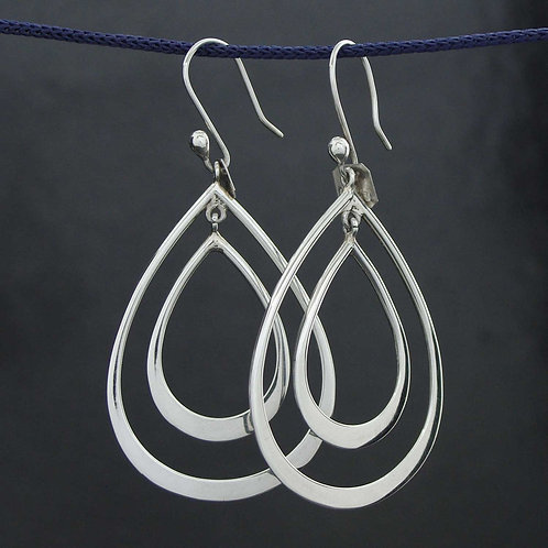 Retro Double Loop Earrings