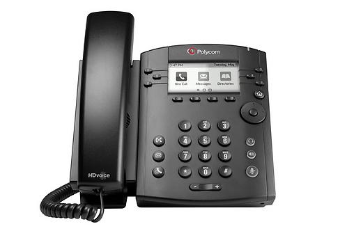 Polycom VVX 301 6-line Desktop Phone with HD Voice, PoE