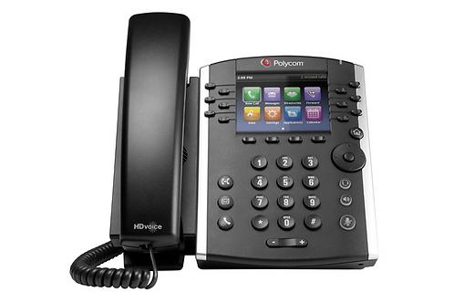 Polycom VVX 400 12-line Desktop Phone with HD Voice. PoE
