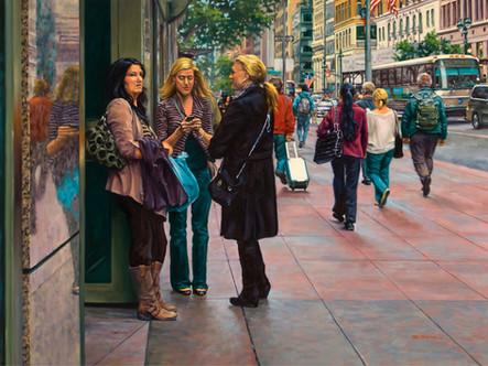 "The Conversation | 36"" x 48"" | Oil on Linen"