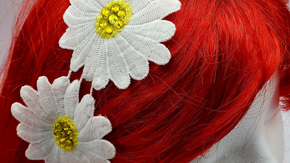 Daisy bling lace hair band