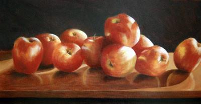 "10 Apples | 15"" x 28"" | Oil"