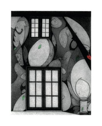 "Inner Landscape | 10"" x 8"" on 20"" x 18"" paper | Serigraphic Print"