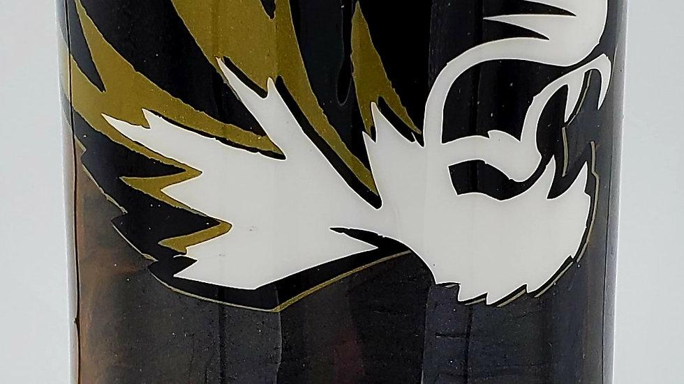 20 oz. Black & Gold Mizzou Tigers Double Walled Stainless Steel Tumbler
