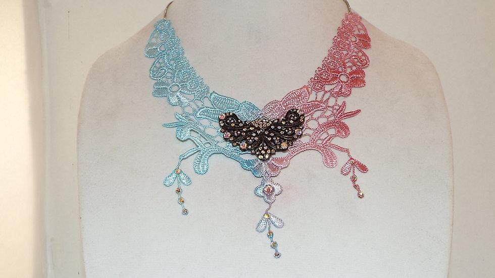 Duo Color Lace Necklace