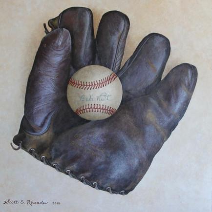 "My Grandfather's Glove | 12"" x 12"" | Acrylic on Board"