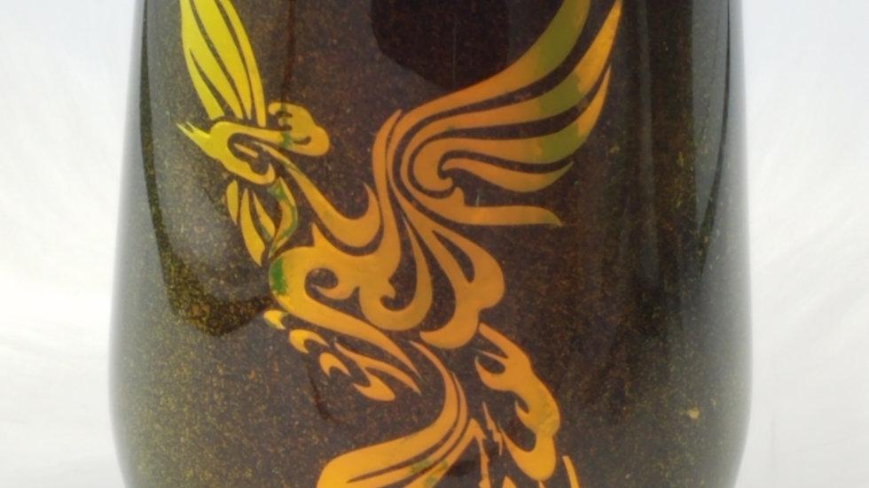 15 Oz Phoenix Wine Double Walled Stainless Steel Tumbler