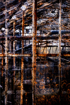 "Encaustic Interior | 20"" x 30"" | Photomontage"