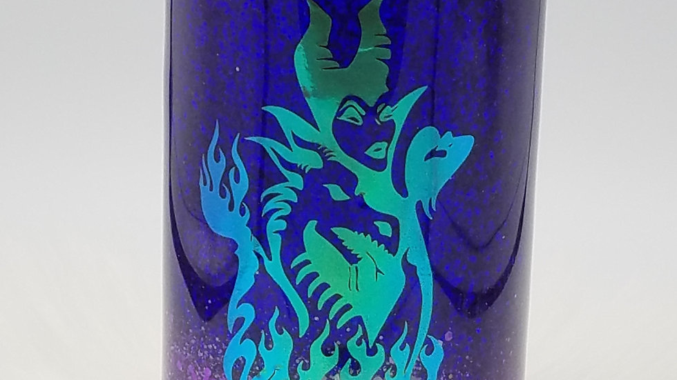 22. Oz Evil Queen Purple Glittered Double Walled Stainless Steel Tumbler