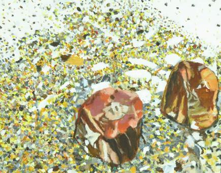 "Petrified Wood   20"" x 16""   Acrylic on Canvas"
