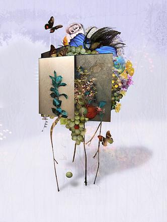 "Reliquary #10   18"" x 24""   Digital Collage"