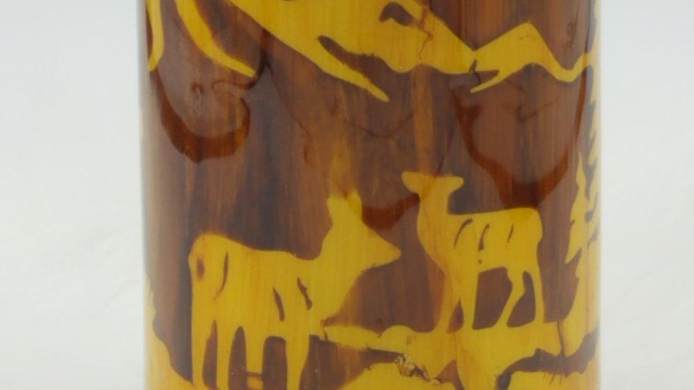32 Oz. Wood Grain Bullet Double Walled Stainless Steel Tumbler