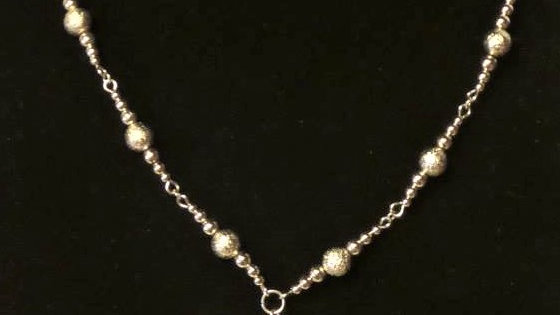 """""""Y"""" Necklace With Silver Beads & Chain"""
