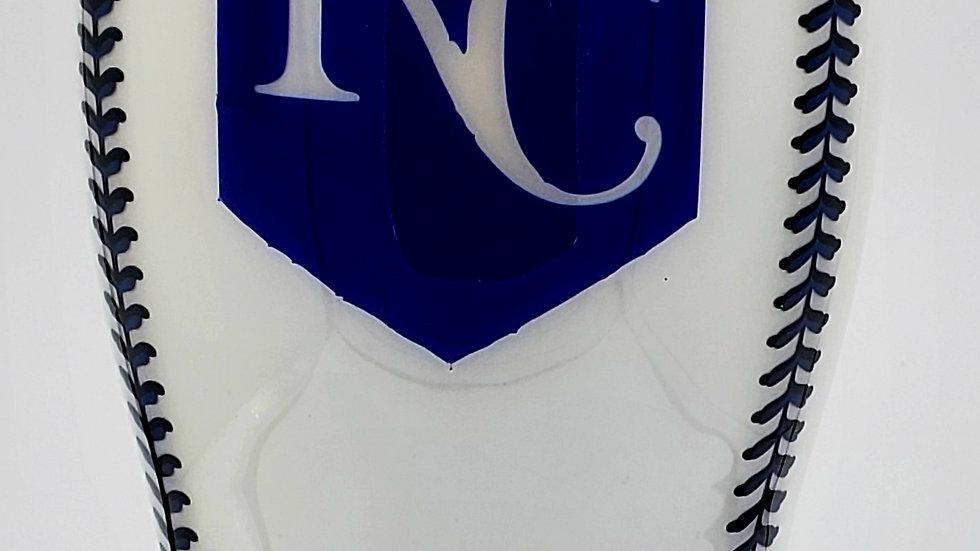 30 oz. KC Royals Baseball UV Reactive-Blue Double Walled Stainless Steel Tumbler