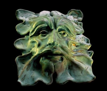 "Greenman | 10"" x 8"" | Ceramic Stoneware"