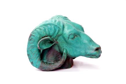"Amun Ra | 10"" x 12"" x 14"" | Ceramic Stoneware with Weathered Bronze Finish"