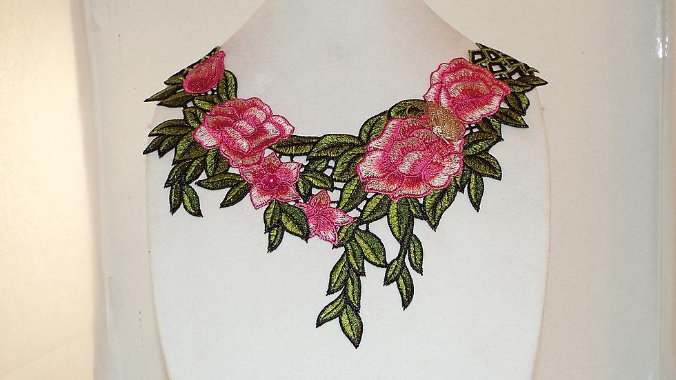 Large Multi-color Lace Necklace