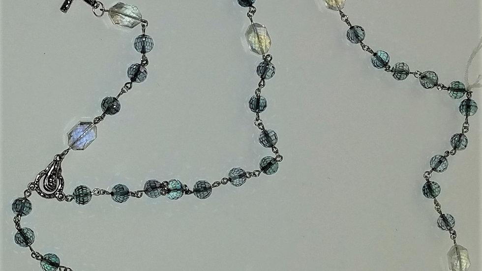Iridescent Bluish-Purple Beaded Rosary