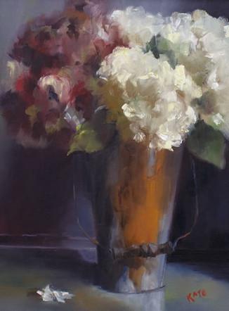 "Hydrangea From the Garden | 18"" x 22"" | Oil on Linen"