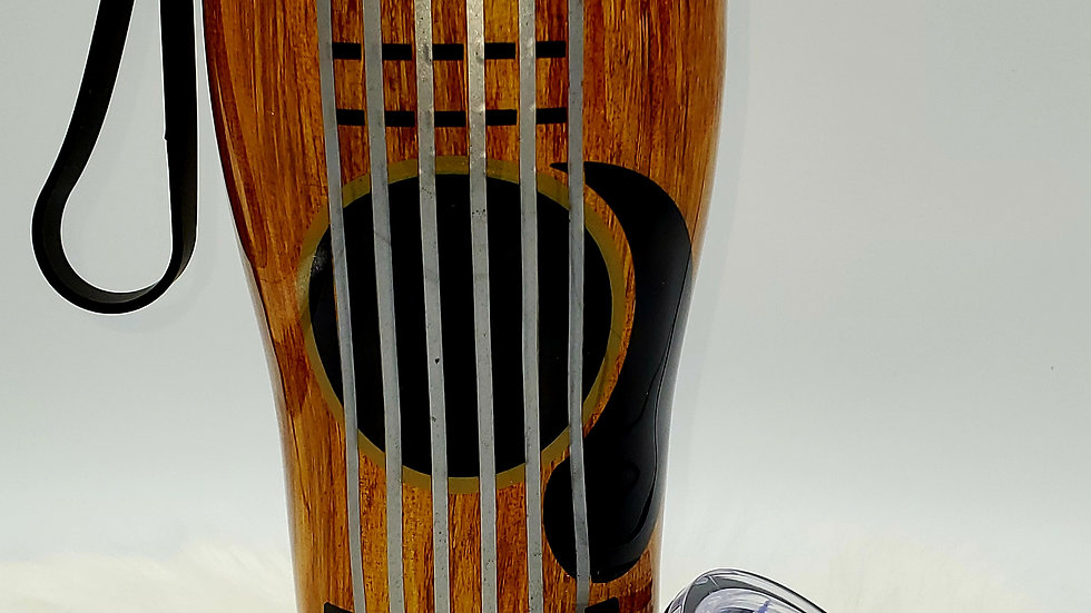 30 oz. Acoustic Guitar Double Walled Stainless Steel Tumbler