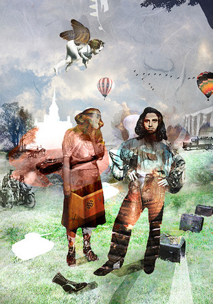 """Here Today Gone Tomorrow   18"""" x 24""""   Digital Collage"""