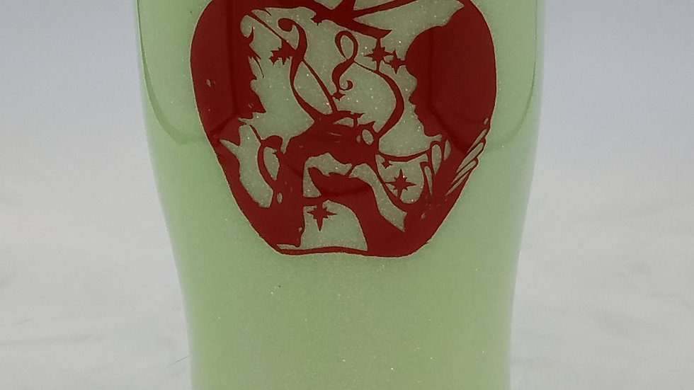 20Oz. Poison Apple Glow in the DarkDouble Walled Stainless Steel WineTumbler