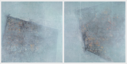 """Monumental I & II (diptych)   (2) 36"""" x 36"""" panels   Mixed Media on Wood"""