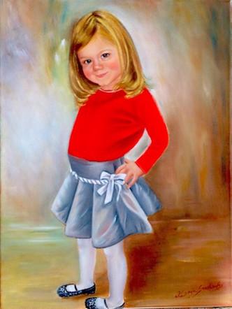 "Sofia | 24"" x 28"" | Oil/Canvas"