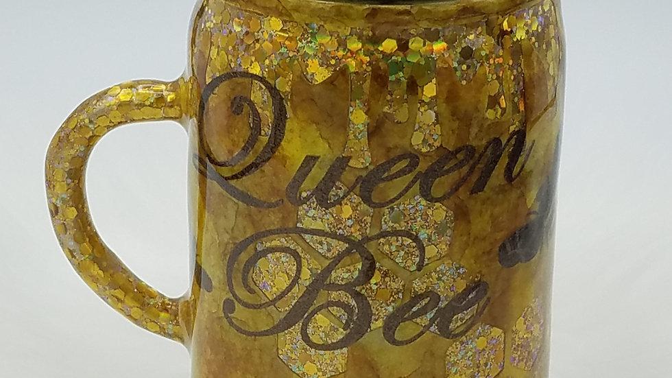 17Oz. Queen Bee Honeycomb Double Walled Stainless Steel Tumbler